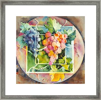 Vineyard Framed Print by Joan  Jones