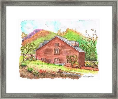 Vineyard Ladera Napa Valley - California Framed Print