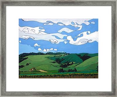 Vineyard Landscape 1 Framed Print by John Gibbs