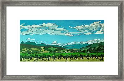 Vineyard Landscape Framed Print