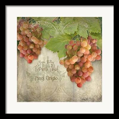 Vintage Wine Lovers Paintings Framed Prints