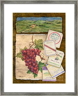 Vineyard View I Framed Print