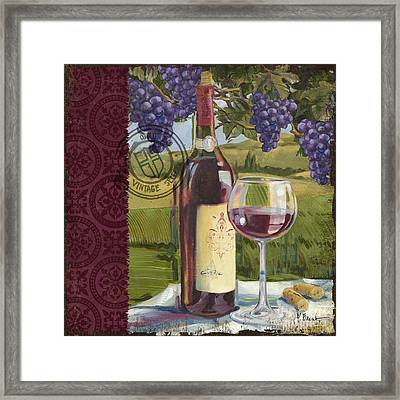 Vineyard Wine Tasting Collage I Framed Print