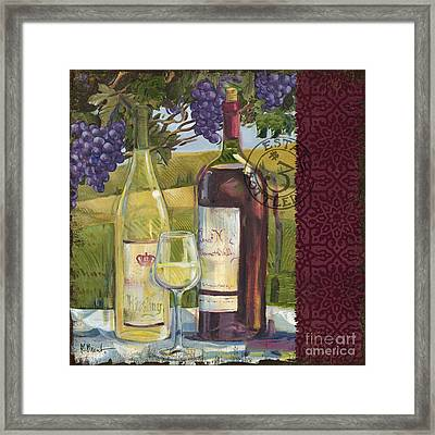 Vineyard Wine Tasting Collage II Framed Print by Paul Brent