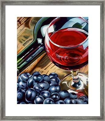 Vino 2 Framed Print by Cory Still