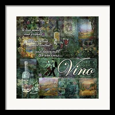 Vino Digital Art Framed Prints