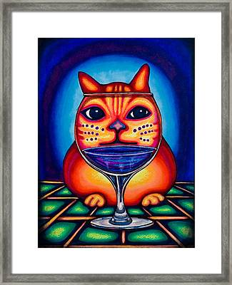 Vino Kats Framed Print