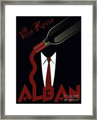 Vino Rosso  Framed Print by Cinema Photography