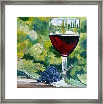 Vino Rosso - Red Wine Framed Print by Julie Brugh Riffey