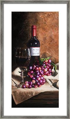 Vino Rosso Framed Print by Michael Malta
