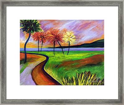 Vinoy Park In Purple Framed Print