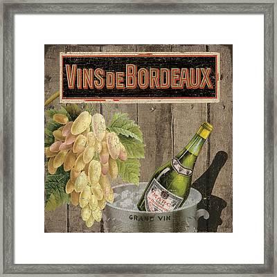 Vins Debordeaux Framed Print