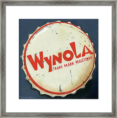 Vintag Bottle Cap, Wynola Framed Print