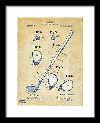 Golf Swing Framed Prints