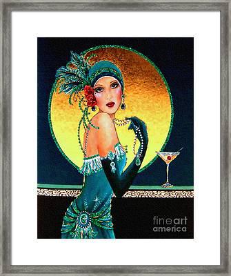 Vintage 1920s Fashion Girl  Framed Print