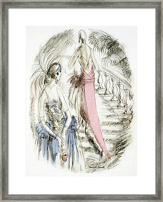 Vintage 1920s Fashion Plate  Evening Dresses Framed Print