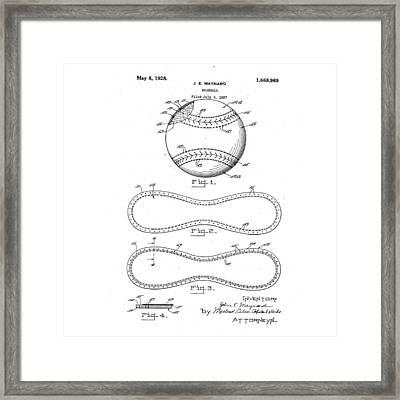 Vintage 1928 Baseball Patent Framed Print