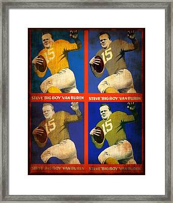 Vintage 1948 Steve - Big Boy - Van Buren Football Cards Framed Print