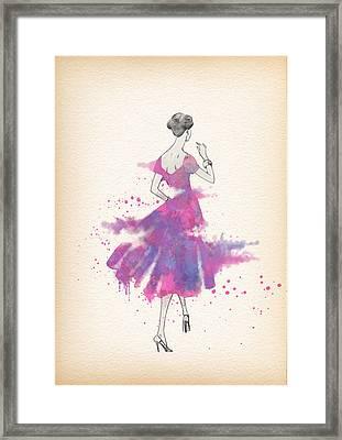 Vintage 1950s Dress Pattern Petite Bust  Framed Print by Diana Van
