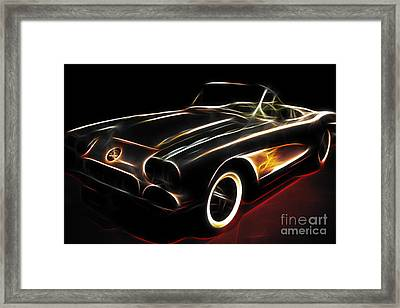 Vintage 1956 Corvette Framed Print by Wingsdomain Art and Photography