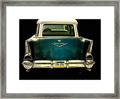 Vintage 1957 Chevy Station Wagon Framed Print by Steven Digman