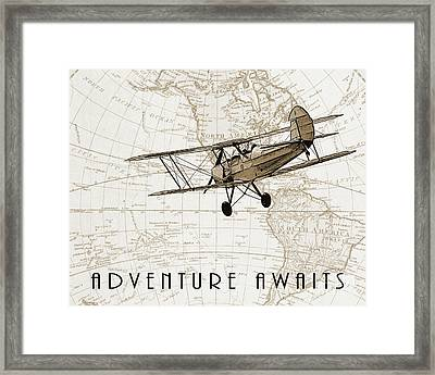 Vintage Adventure Framed Print by Delphimages Photo Creations