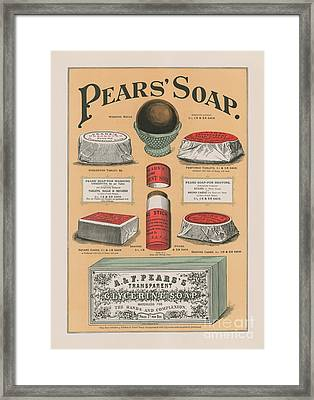 Vintage Advertisement For Pears' Soap Framed Print by English School