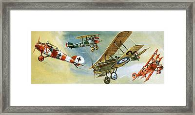 Vintage Aircraft Framed Print by Wilf Hardy