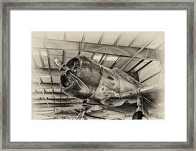 Vintage Airplane Framed Print by Christine Hauber