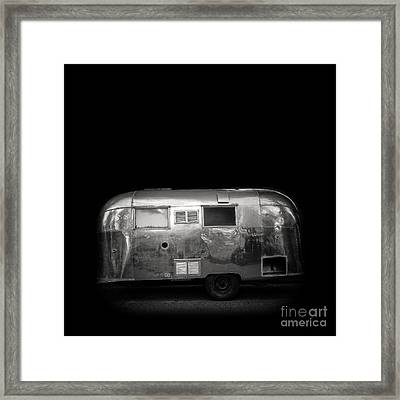 Vintage Airstream Travel Camper Trailer Square Framed Print by Edward Fielding