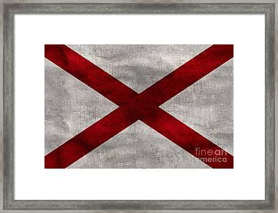 Vintage Alabama Flag Framed Print by Jon Neidert
