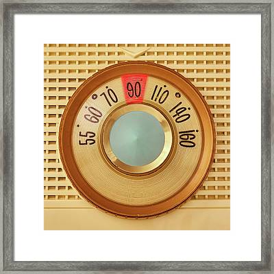 Vintage Am Radio Dial Framed Print by Jim Hughes