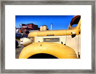 Vintage America . Old Dodge Truck At The Old C And H Sugar Plant . 5d16786 Framed Print by Wingsdomain Art and Photography