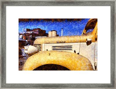 Vintage America . Old Dodge Truck At The Old C And H Sugar Plant . Painterly . 5d16786 Framed Print by Wingsdomain Art and Photography