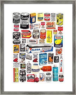 Vintage American Brands Framed Print