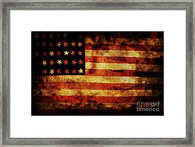 Vintage American Flag Framed Print