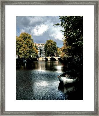 Framed Print featuring the photograph Vintage Amsterdam by Jim Hill