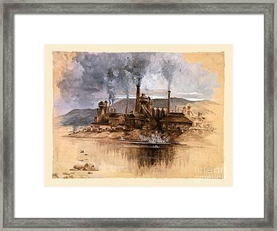 Vintage Antique Bethlehem Steel Factory Framed Print
