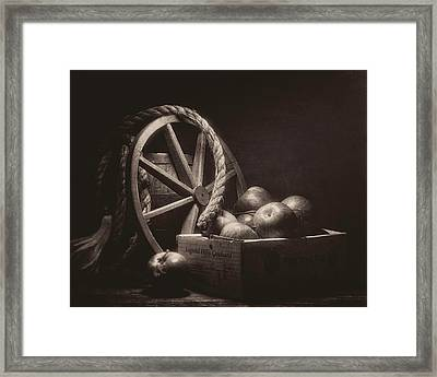 Vintage Apple Basket Still Life Framed Print by Tom Mc Nemar