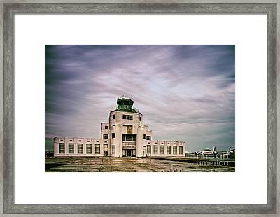 Vintage Architectural Photograph Of The 1940 Air Terminual Museum - Hobby Airport Houston Texas Framed Print