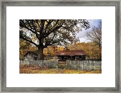 Vintage Arkansas Homestead Framed Print