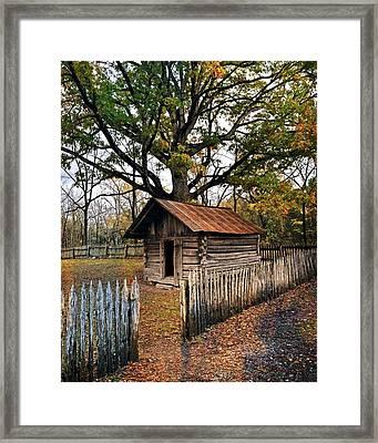 Vintage Arkansas Out Building Framed Print