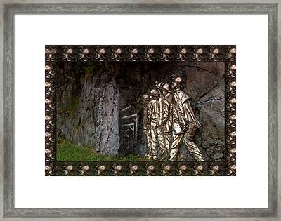 Vintage Art Photography Canadian  Gold Miners Museum  Digital Processing For The Border And Presenta Framed Print by Navin Joshi