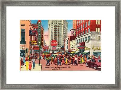 Vintage Atlanta Postcard Framed Print by Mountain Dreams
