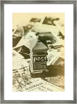 Vintage Australian Postage Art Framed Print