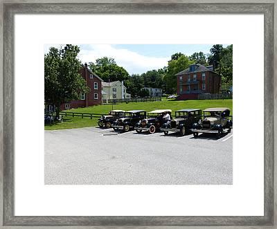 Vintage Auto Display Framed Print by Donald C Morgan