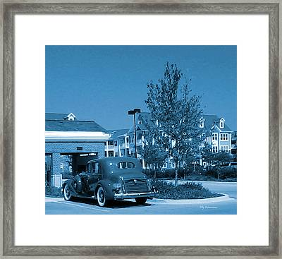 Framed Print featuring the pyrography Vintage Automobile by Elly Potamianos