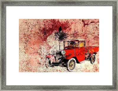 Vintage Background Framed Print