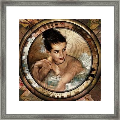 Vintage Ballerina Art Deco Modern Style Art Framed Print