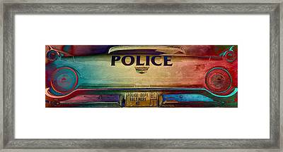 Vintage Baltimore Police Department Car Framed Print